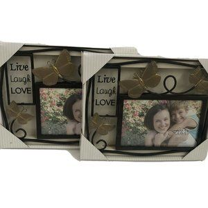 Fetco Picture Valentines frames 6X4 Metal Love X2